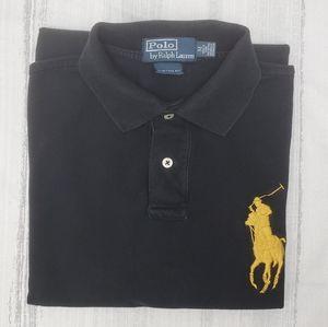Polo RL Black & Gold Custom Fit Shirt- M